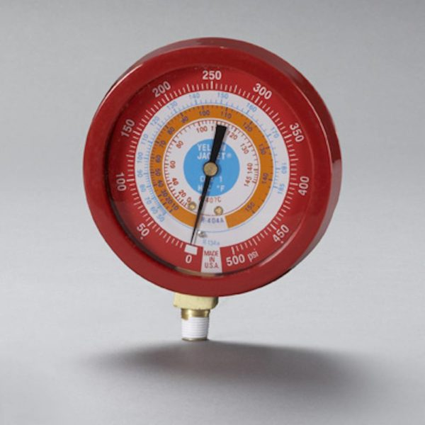 YJ 49521 1% ACCURACY LIQUID FILLED RED GAUGE R134:R404:R407C