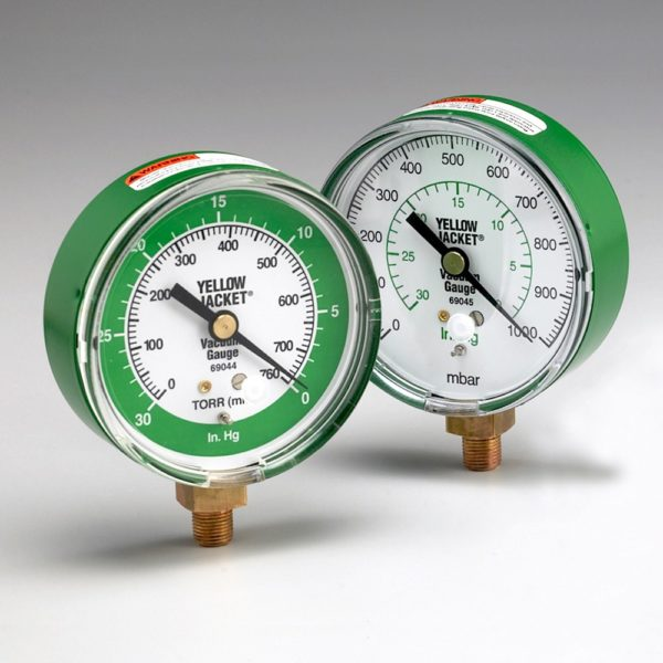 YJ 69045 3-1:8 ANALOGUE VACUUM GAUGE MBAR : IN.HG